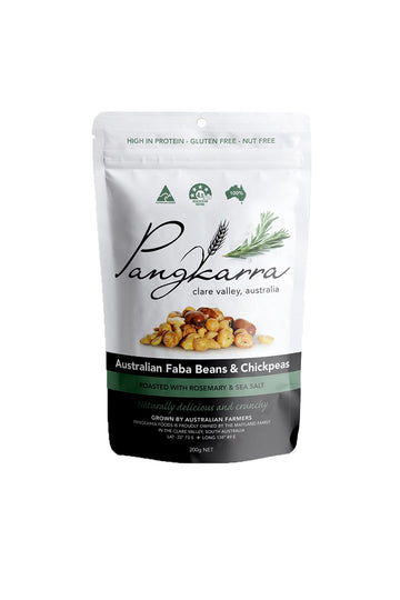 Pangkarra Roasted Combination, Chickpeas and Faba Beans with Rosemary and Sea Salt 200 G
