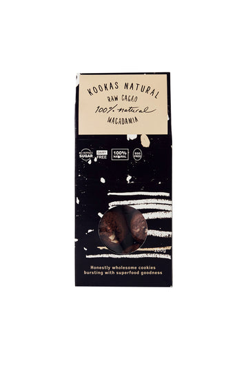Kookas Natural Raw Cacao & Macadamia 180g Box