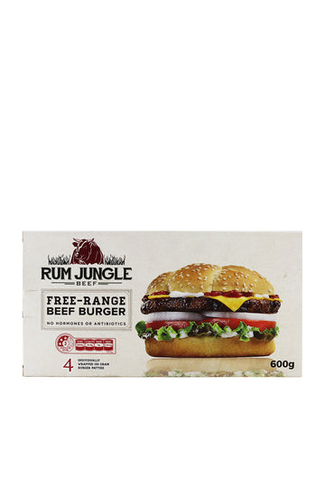 Rum Jungle Free-Range Beef Burger 4 Pack 600 G