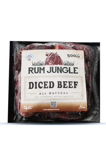 Rum Jungle Diced Beef - Frozen 500 G