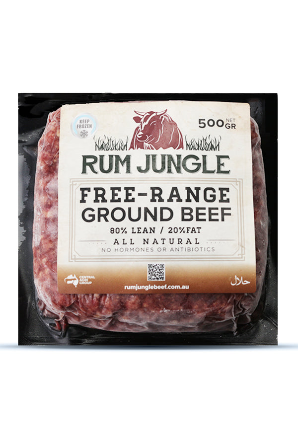 Rum Jungle Free Range Ground Beef - Frozen 500 G