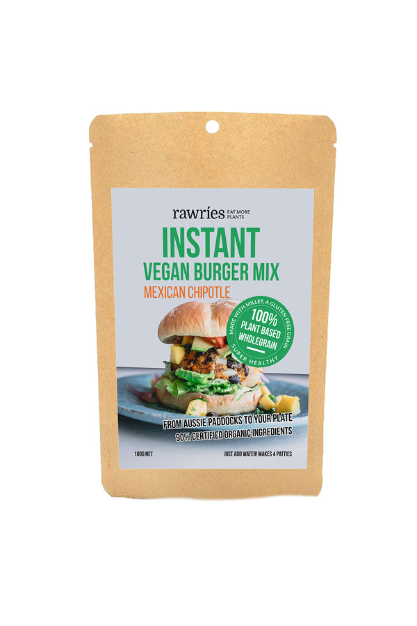 Rawries Vegan Burger Mix Mexican Chipotle 180 G