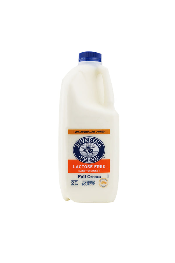 Riverina Lactose Free Full Cream Milk  2L