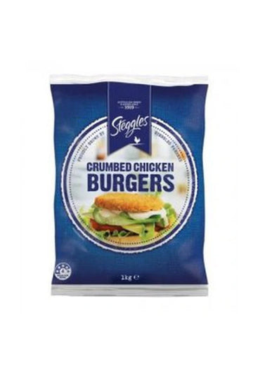Steggles Crumbed Chicken Burgers 1 KG