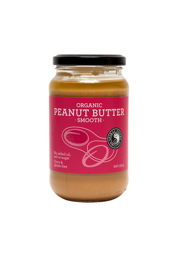 Organic Smooth Peanut Butter 375g