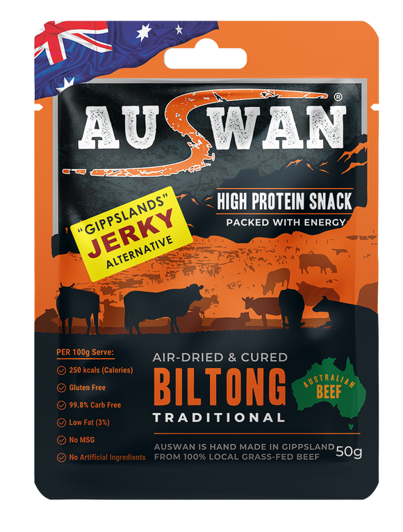 Auswan Biltong Traditional Meat Snack 50 G