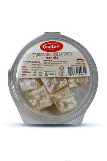 Sultan Vanilla Turkish Delight 200 G