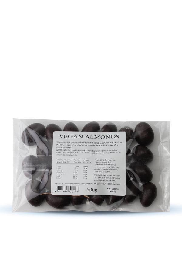 The Melbourne Chocolate Company Vegan Almonds 200 G