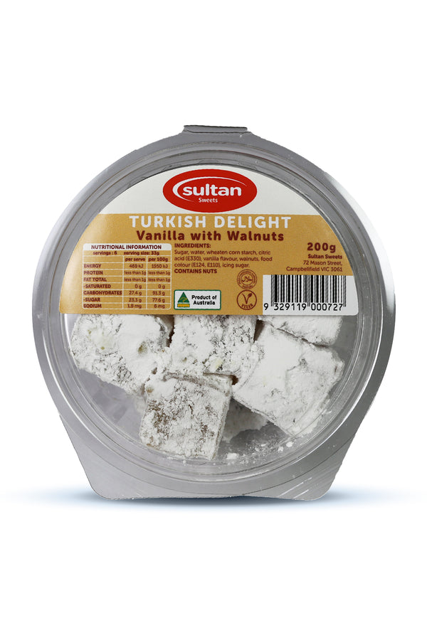 Sultan Vanilla Walnut Turkish Delight 200G