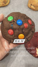 Load and play video in Gallery viewer, M&M double chocolate cookie