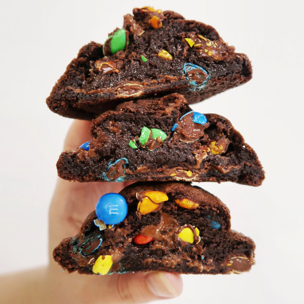 M&M double chocolate cookie