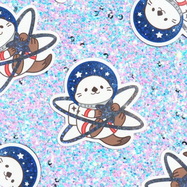 Otter Space Sticker