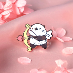 Cupid Otter Enamel Pin