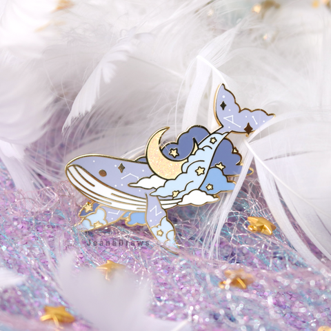 Dream Whale Enamel Pin