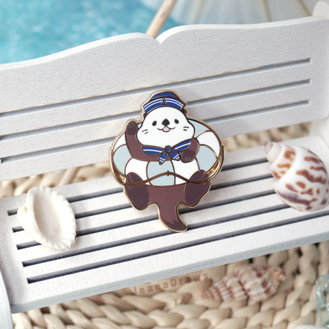 Sailor Otter Enamel Pin