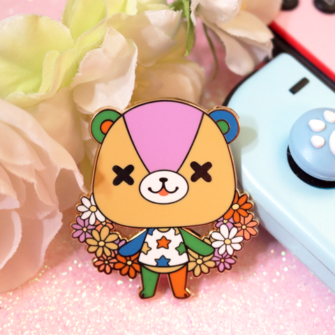 Stitches Enamel Pin