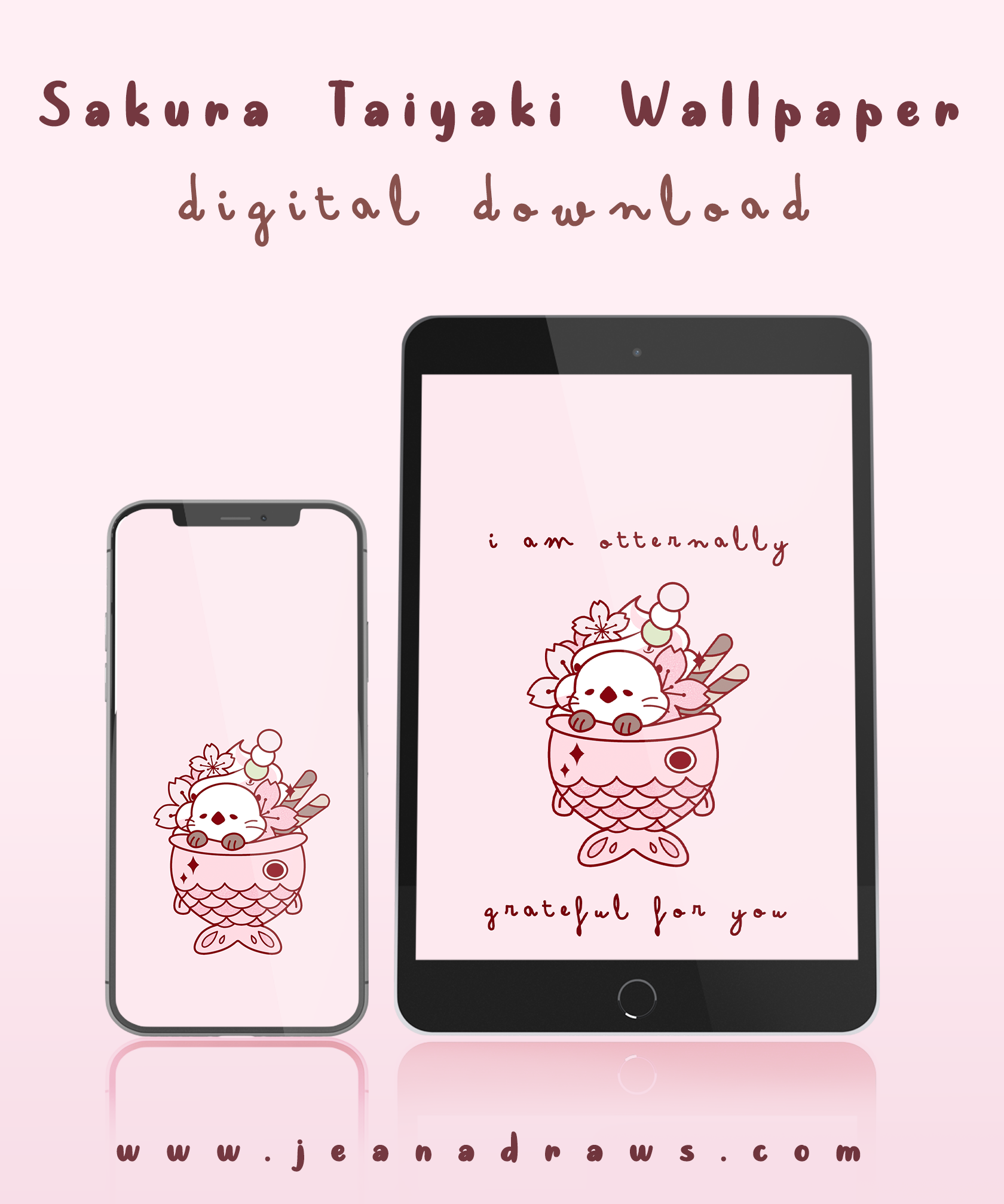 Sakura Taiyaki Wallpaper [Digital Download]