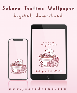 Sakura Teatime Wallpaper [Digital Download]