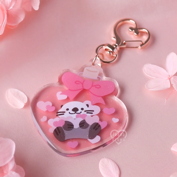 Love Potion Otter Acrylic Keychain