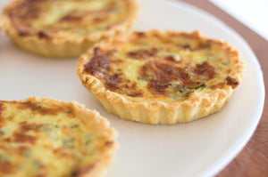 2 Medium Vegetarian Quiche