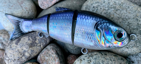 "Blueberry Shad Holographic 4.5"" Swimbait"