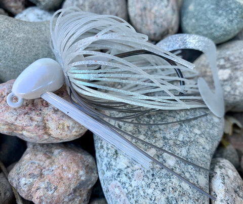 Blue Ghost Swirl Swim Jig