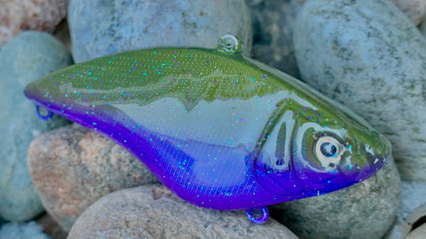 Green Pumpkin Purple Sparkle Lipless Crankbait
