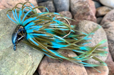 Green Pumpkin Aqua 1/4oz Jig