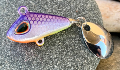 Chromatic Shad 1/4oz Spin Devil Ice Jig