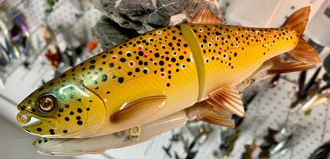 "Brown Trout 8"" Slow Sinking Soft Tail Glidebait"