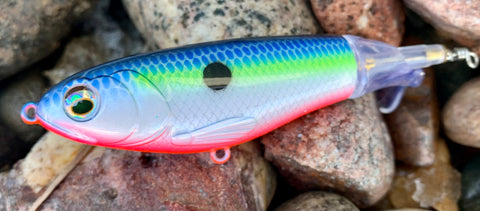 Blue Neon Shad Topwater Plopper