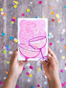 Happy Burpday Bubbly – birthday card with envelope