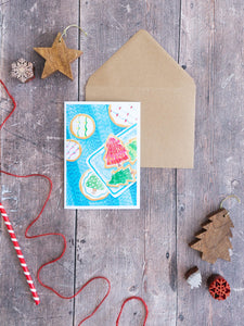 Festive Cookies – card with envelope
