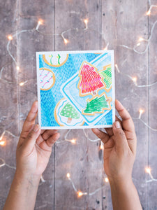 Festive Cookies (square) – card with envelope