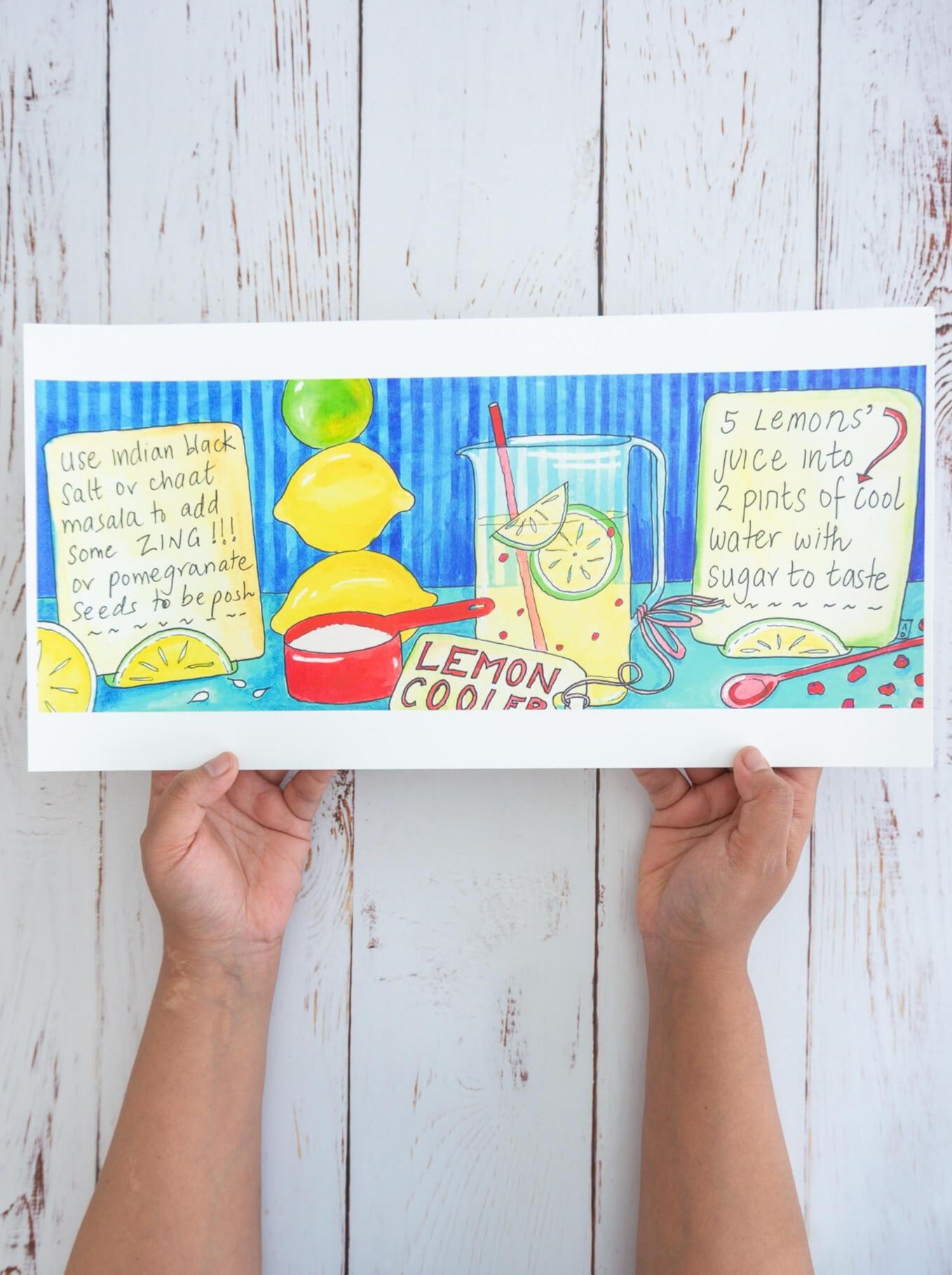 Lemon Cooler – recipe art print