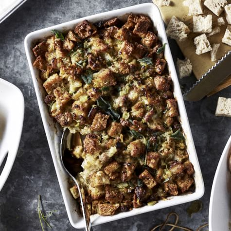 Sourdough Stuffing with Sausage and Gruyere - Thanksgiving Sides
