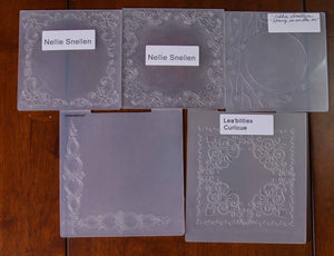 5 Assorted Embossing Folders