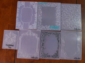 7 Assorted Embossing Folders