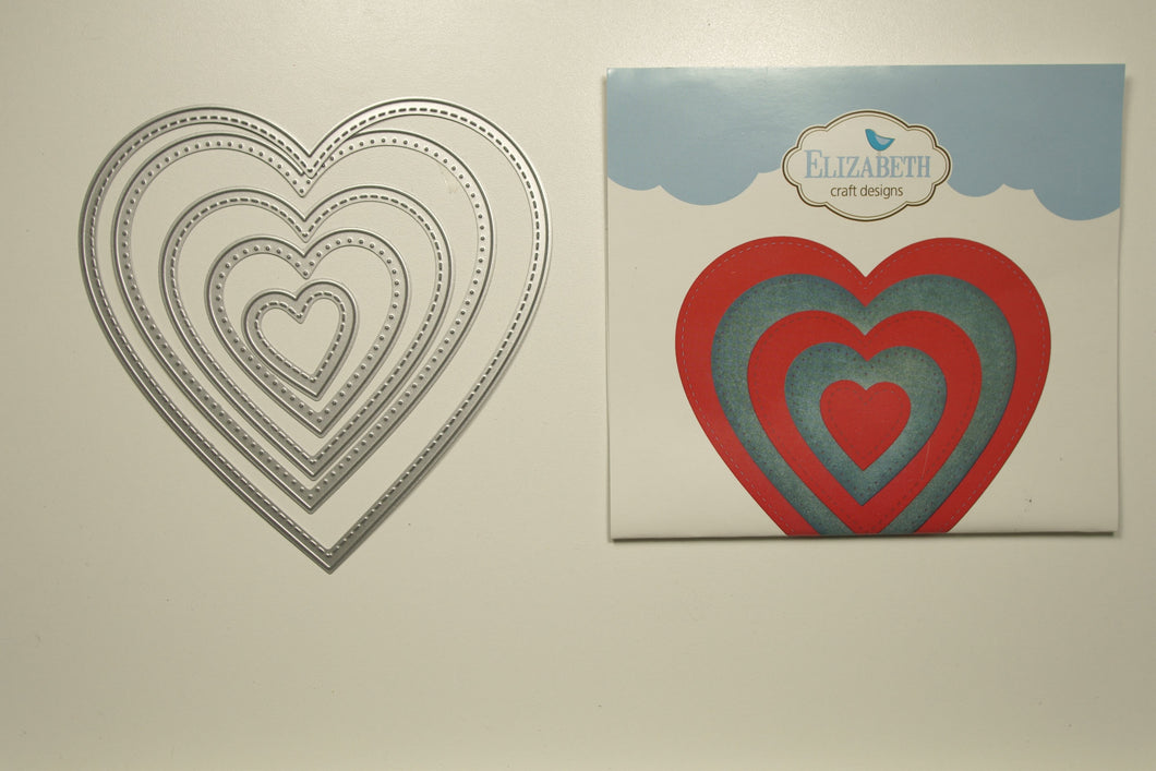 #1263 Stitched hearts