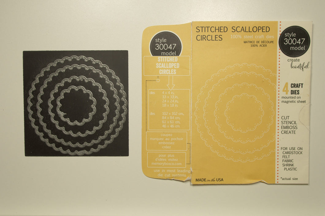 Stitched Scalloped Circles #30047