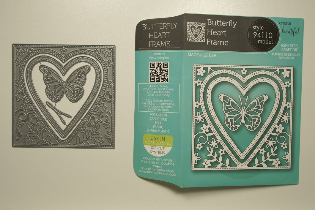 Butterfly Heart Frame #94110