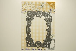 Spring Flowers Rectangle Frame