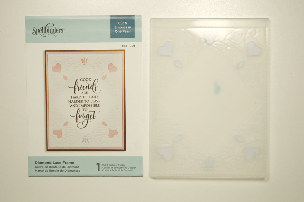 Diamond Lace Frame Cut & Emboss