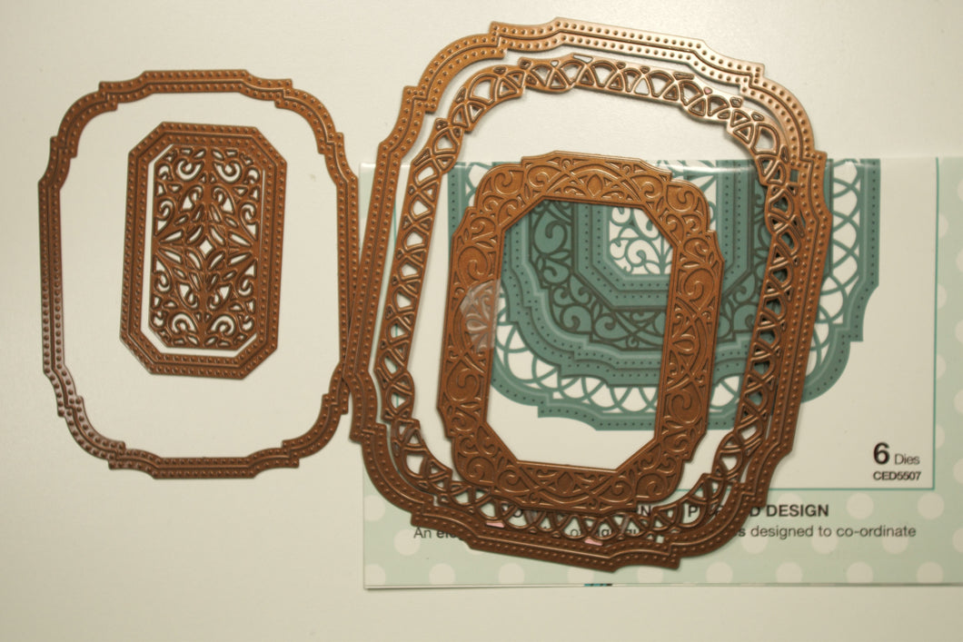 Noble Collection-Ornate Pierced Design Rectangles