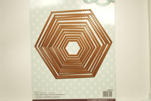 Creative Expressions Double Stitched Hexagon Set