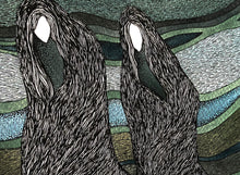 Load image into Gallery viewer, Macbeth Weird Sisters on the moorland image (detail).