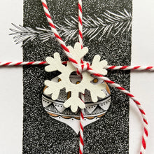 Load image into Gallery viewer, Bauble Christmas card close up.