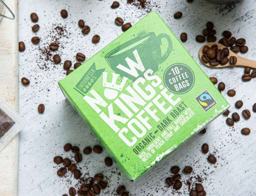 New Kings Coffee Medium Roast with coffee beans