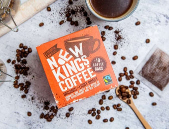 New Kings Coffee Light Roast with coffee beans