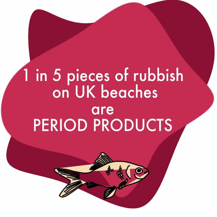UK Beaches are full of disposable menstrual products